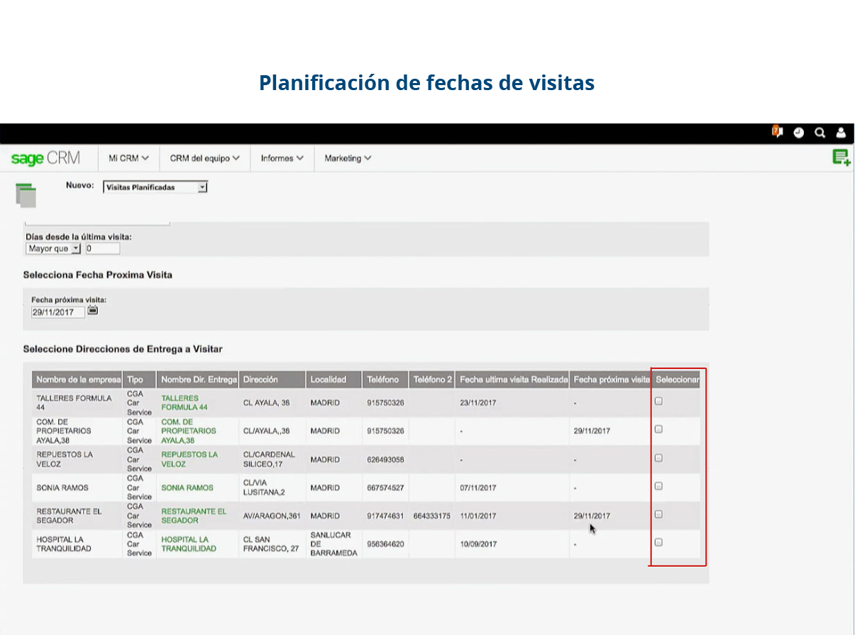 Software de gestión de gastos - planificación de visitas